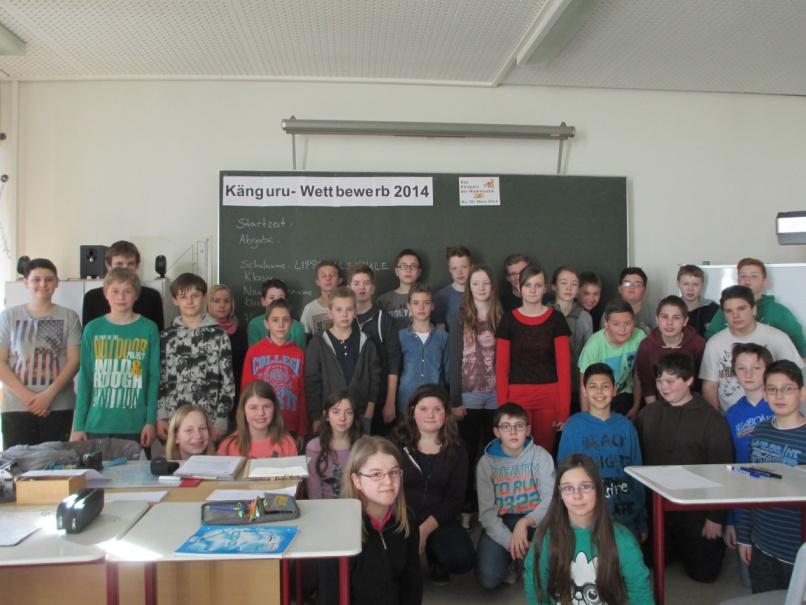 Die Teilnehmer des diesjährigen Känguru-Wettbewerbs