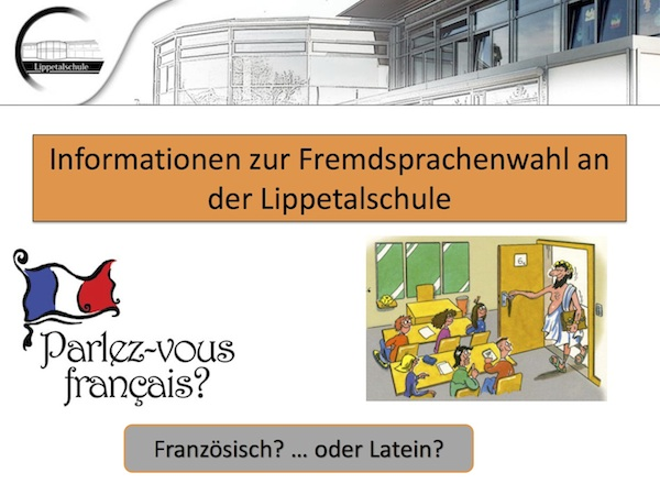 Präsentation Infoabend Fremdsprachen