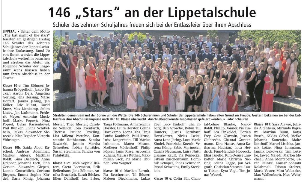 """""""The last night of the stars"""" – Abschlussklassen 2018"""